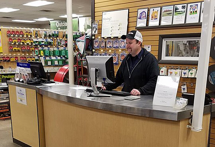employee behind counter